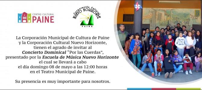 """""""Por las cuerdas"""", Concierto Dominical de la CCNH el primer domingo de mayo"""