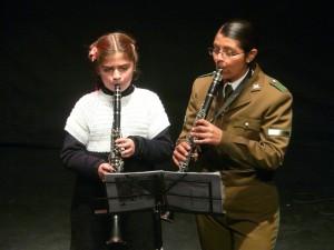 Rosario Olivares y su profesora