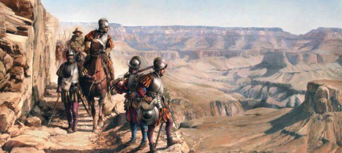 Los conquistadores españoles, los primeros exploradores europeos del actual territorio de los Estados Unidos.